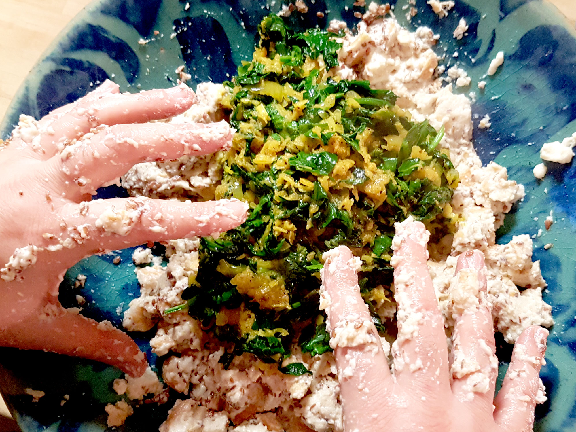 Zubereitung vegane Semmelknoedel-2